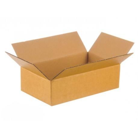 Caja de cartón con solapa blanca 250x150x80 con estampado