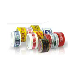 Packing tape with 48/60 print hot-melt rubber